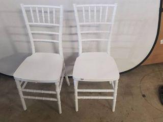 Flash Furniture HERCUlES PREMIUM Series White Resin Stacking Chiavari Chairs Set Of Two