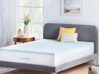 linenspa Essentials 2  Gel Memory Foam Mattress Topper