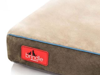 Brindle 48in X 28in Soft Memory Foam Dog Bed with Removable Washable Cover