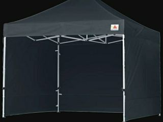 Commercial Instant Shade 10 Ft  W x 10 Ft  D Metal Pop Up Canopy