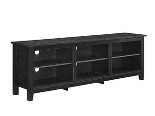 70in x 16in x 24in Walker Edison Wood TV Media Storage Stand for TVs up to 78    Black
