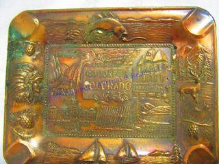 PERUVIAN COINS  COlORAO ADV ASH TRAY
