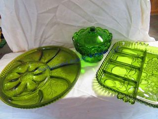 GREEN GlASS WARE