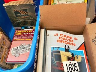 3 BOXES OF BOOKS W  REPAIR   TUNE UP GUIDES