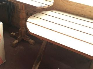 2 WOODEN TABlES