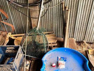 SlED  BASEBAll BATS  FISHING ROD   NETS