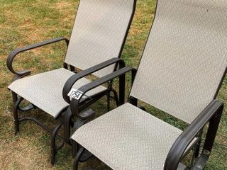 2 IJ ROCKING lAWN CHAIRS