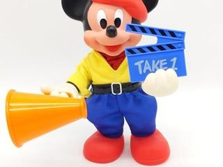 Vintage Mickey Mouse Director Plastic Figure -