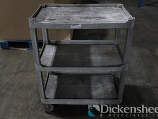 3 Shelf Rolling Shop Cart as photographed.