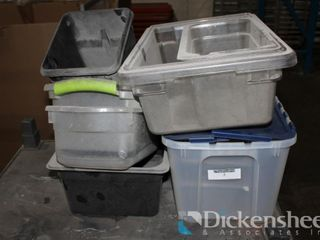 Lot of Plastic Bins as photographed.