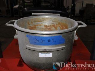 30 Quart Stainless Steel Hobart Bowl