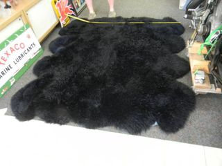 AWESOME 8 PELT LONG HAIRED SHEEP RUG - APPROX 7FT BY 6FT - VERY NICE CONDITION!!!!! - THESE ARE SELLING FOR OVER $1000.00 - GREAT PIECE! - SEE PICTURES!