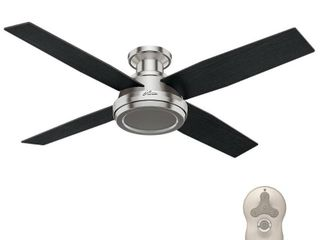 Hunter 52  Dempsey Brushed Nickel Ceiling Fan with Remote