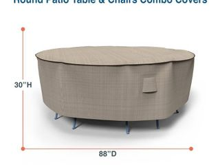 Budge Water Resistant Outdoor Round Patio Furniture Cover