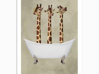 iCanvas Giraffes in Bathtub