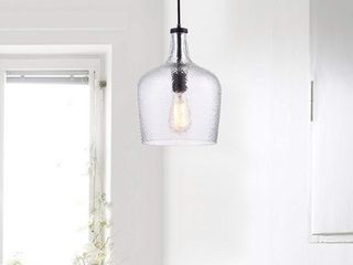 The lighting Store Belinda Antique Black Mouth blown Clear Glass Pendant Chandelier  Retail 78 98
