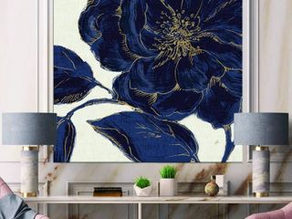 Dark Rose Gilded Gold Canvas Wall Art