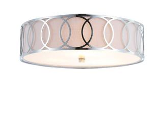 Aubrey 3 light 15 5  Metal lED Flush Mount  Chrome