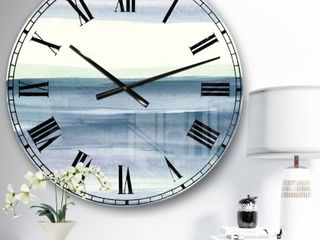 Mint Indigo Dawn I Wall Clock
