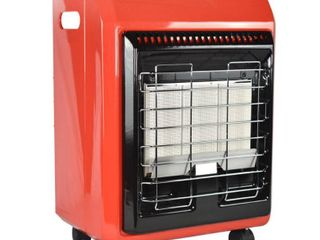 ProTemp 18 000 BTU Radiant Propane Cabinet Space Heater  Red