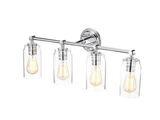 Chloe lighting JOYCE Contemporary 4 light Chrome Bath Vanity Fixture 28 inch Width