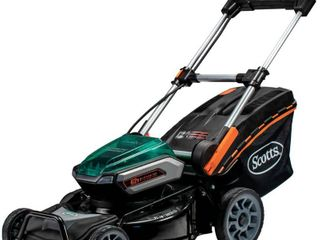 Scotts 21  Inch Cordless 62 Volt lithium lawn Mower w  lights  Retail 408 49