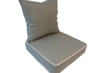 Suntastic Indoor  Outdoor light Grey Textured Deep Seat and Back Cushions