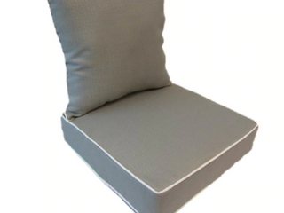 Suntastic Indoor  Outdoor light Grey Textured Deep Seat and Back Cushions