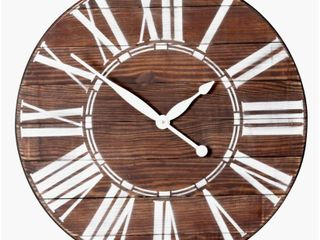 Farmhouse Wood Oversized Wall Clock