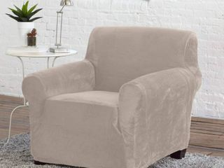 Great Bay Home Silver Cloud Color Armchair Slipcover