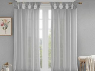 Madison Park Grey Sheer Window Panels 50 inch x 63 inch