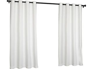 ATI Home Indoor Outdoor Solid Cabana Grommet Top Curtain Panel Pair