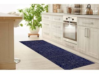 Sultanate Navy Kitchen Mat by Kavka Design