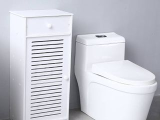 3 Compartments Bathroom Storage Cabinet