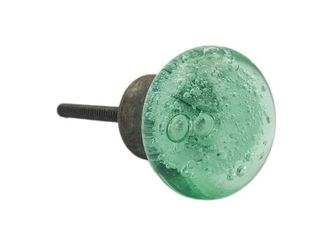 Green Bubble Glass Knobs
