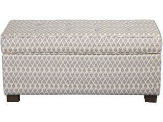 HomePop large Decorative Storage Ottoman  Grey Diamond