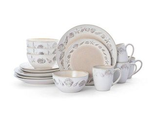 Pfaltzgraff Panama Beige 16 piece Dinnerware Set  Service for 4  Retail 83 99