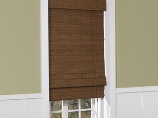 Radiance Cordless Maple Cape Cod Flatweave Bamboo Roman Shade 23  x 64