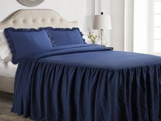 lush Decor Ruffle Skirt Bedspread Set   King