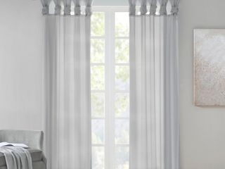 Madison Park 50  x 84  Grey Window Panels 2 Panels