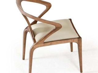Carson Carrington Beige leatherette Dining Chair Short 16 x 22 in  Single Retail  338 49