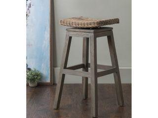 East At Main Sayre Brown Wood Grey Wash Barstool