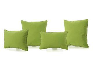 Coronado Green Outdoor Pillows   Set of 4