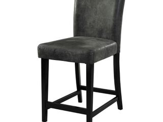 Porch  amp  Den Southmoor Charcoal Counter Stool Counter Height 23 x 28 in  Single Black Retail  127 49