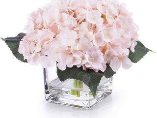 Enova Home Silk Hydrangea Floral Arrangement