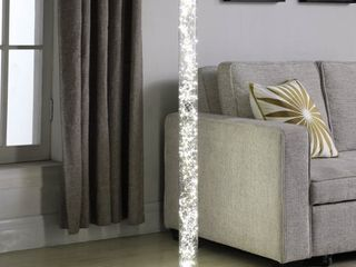 Novelty lED Tube Floor lamp with Crystals