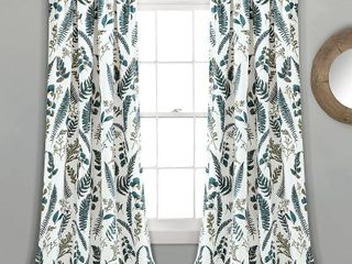 Devonia Botanical Print 52  x 84  Curtain Set 2 panels