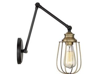Meridian 1 light Wall Sconce   Oil Rubbed Bronze with Brass