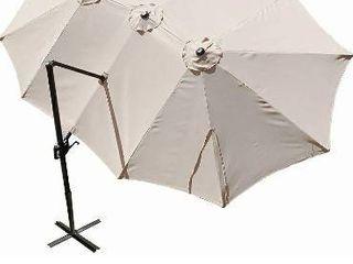 HONTURE 13 8Ft X 8 7ft Cantilever Offset  Oversized Double Sided Triple Vent Patio Umbrella  Beige