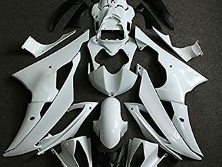 ZXMOTO Unpainted Motorcycle Fairings Set for 2008 09 10 11 12 13 14 15 2016 Yamaha YZF R6 ABS Plastic Body Fairing Kit POSSIBlY MISSING PIECES